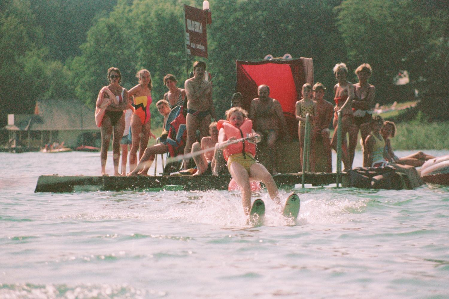 Amy Shearer waterskiing on Worthersee in Austria
