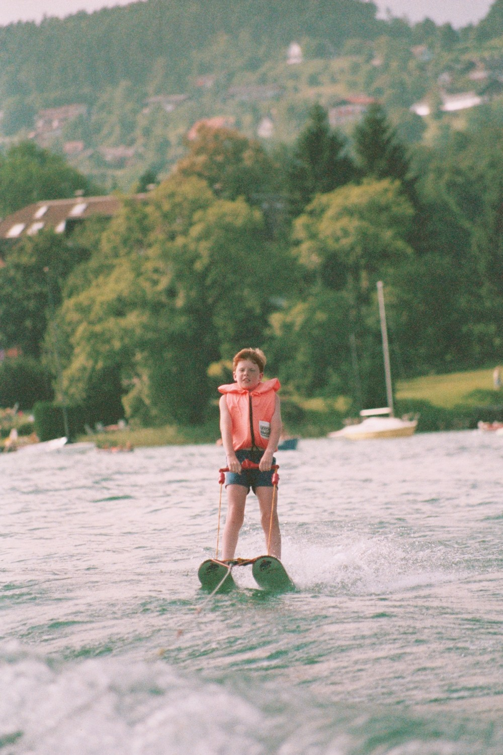 Ed Shearer Waterskiing on the Worthersee in Austria