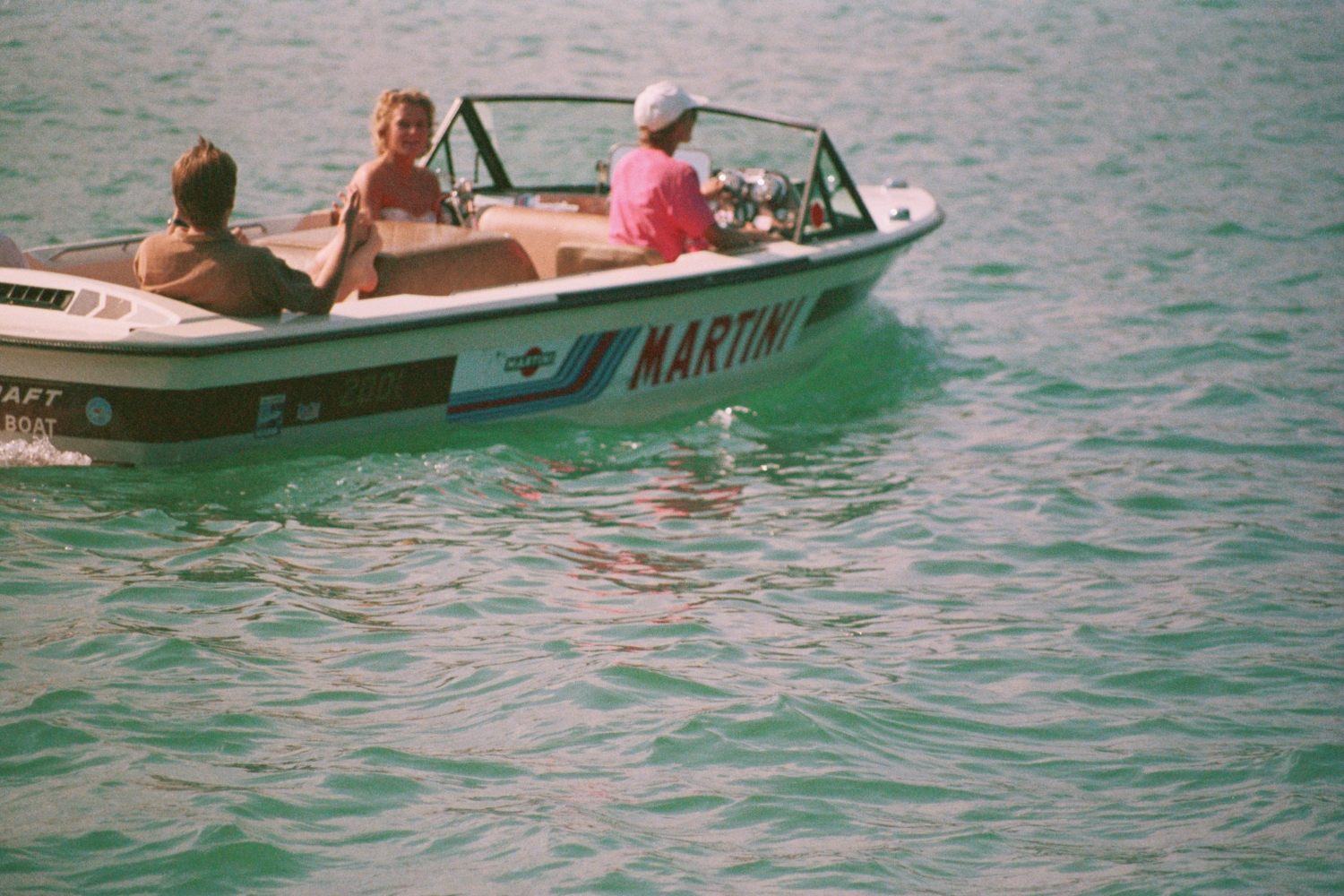 Martini Waterski boat on the Worthersee in Austria