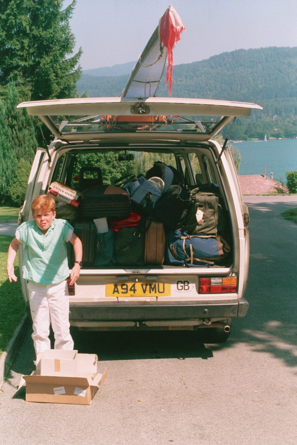 Ed Shearer, at the White VW, at the Worthersee in Austria