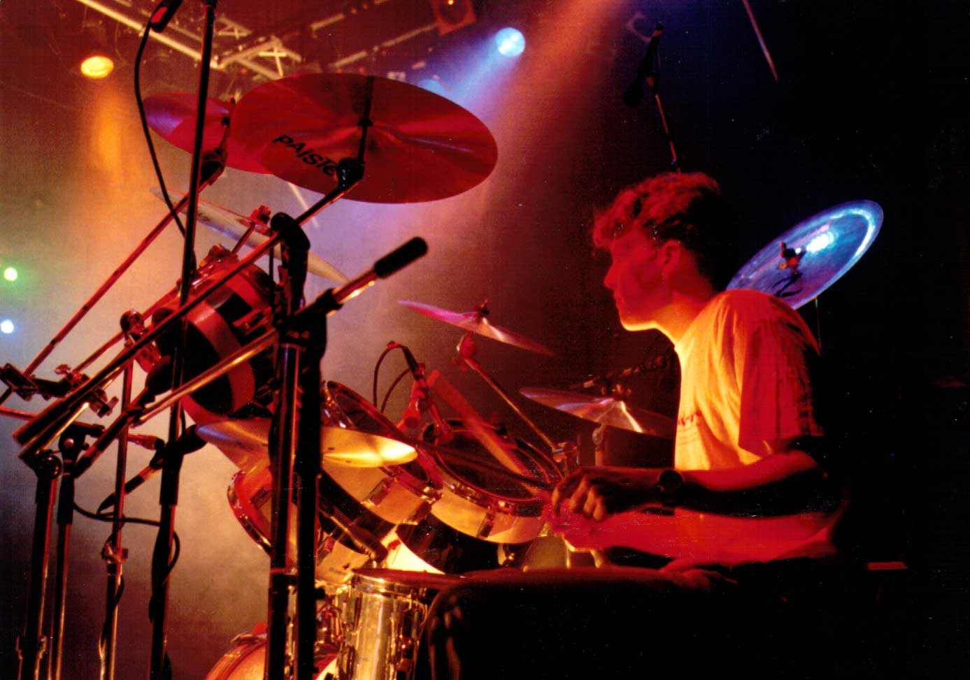 Matt Shearer on Drums, RocSoc 1990, with The Paracetamols