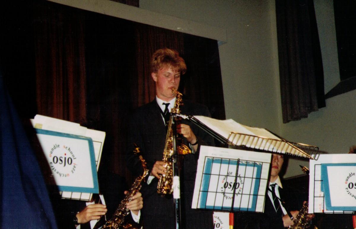 Dickon Hayward - Alto Saxaphone - gig at Oundle School