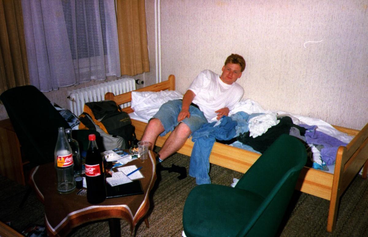 Hotel room, Hamburg. A dump.