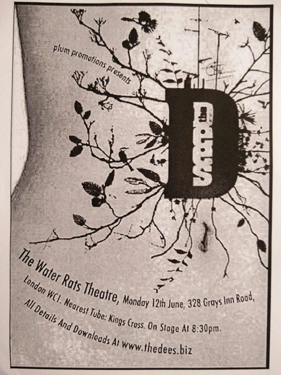 Dees flyer - Water Rats Theatre 12th June 2006