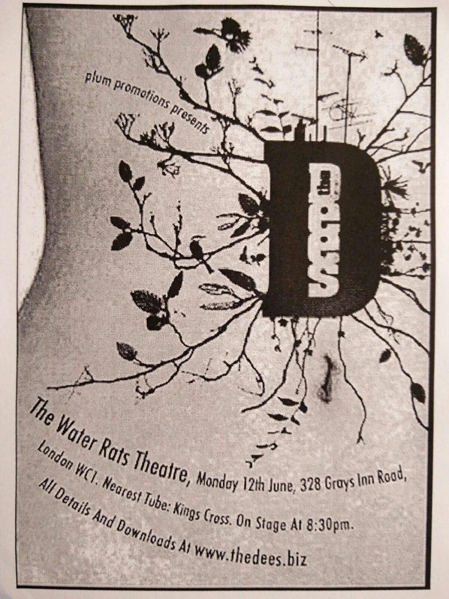 Dees flyer - Water Rats Theatre 12th June 2006
