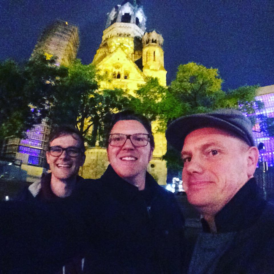 Paul Wakely and Chris Pike in Berlin