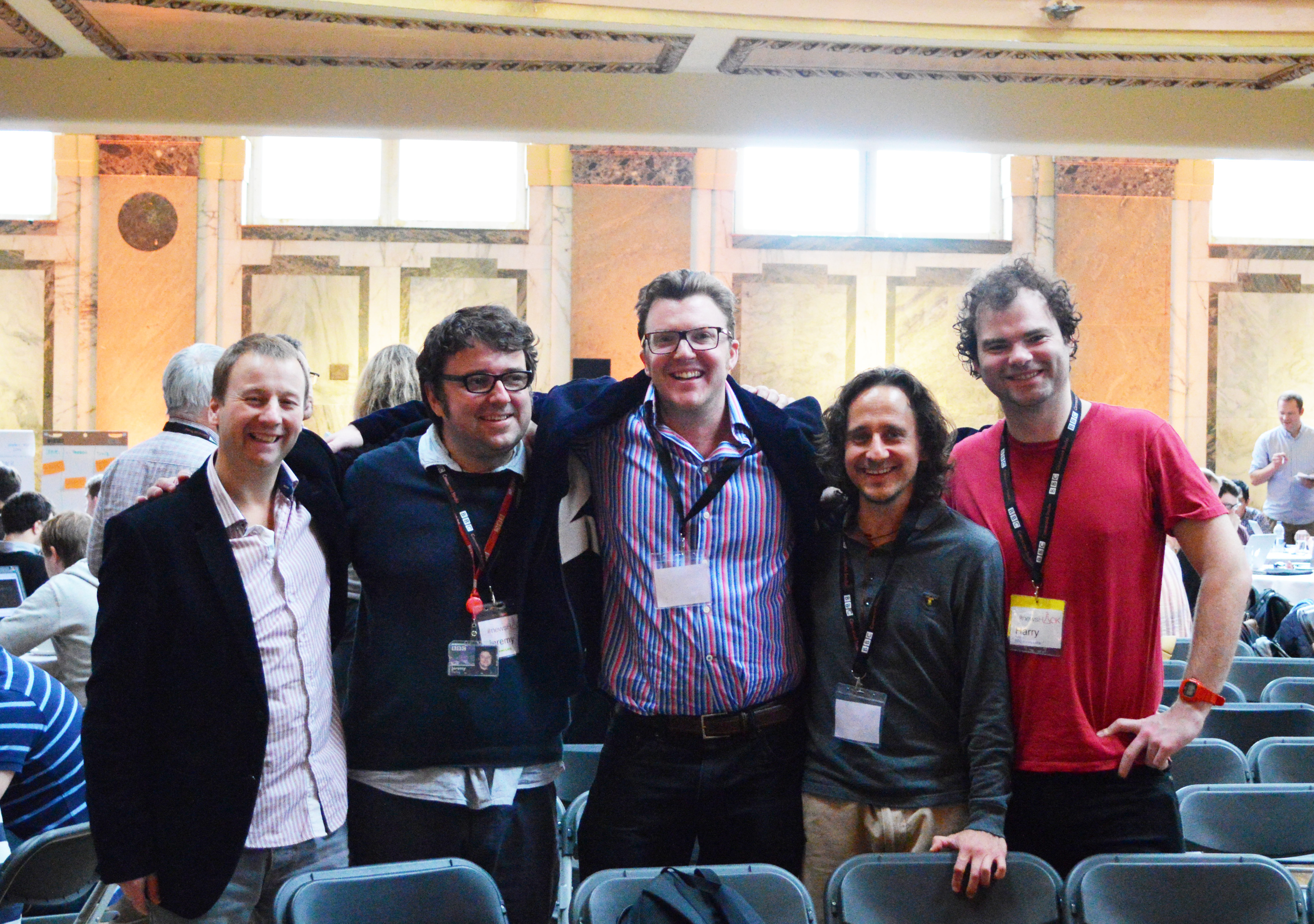 The News Juicer, News Labs API, and Storyliner team, and I, at #newsHACK London, October 2013