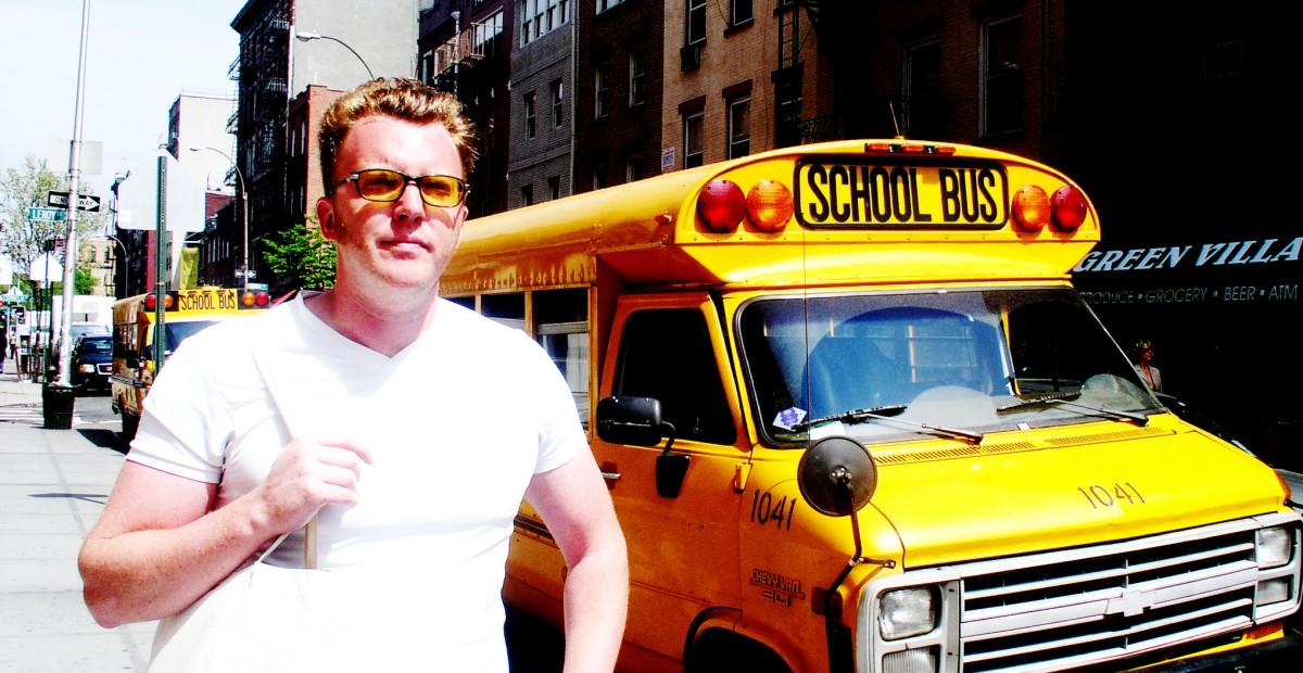 Matt Shearer and a School Bus