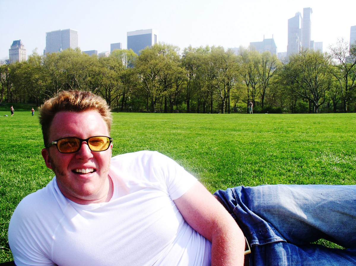 Matt Shearer in Central Park, New York