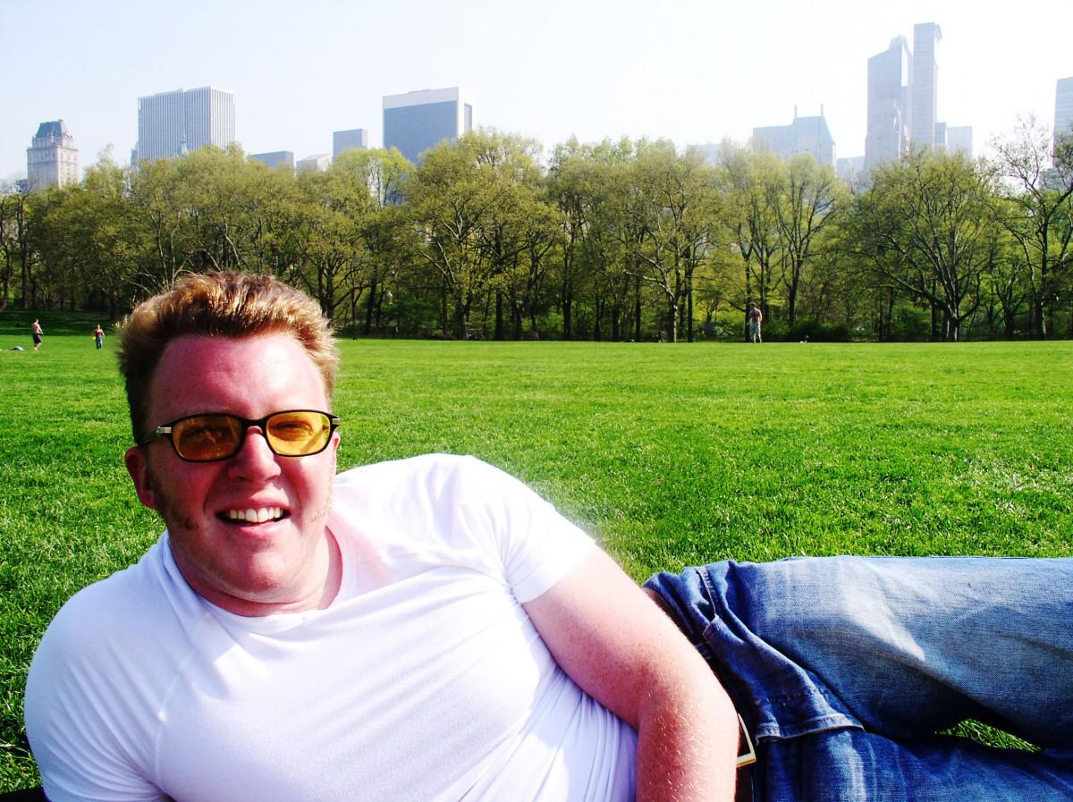 Matt Shearer in Central Park, New York