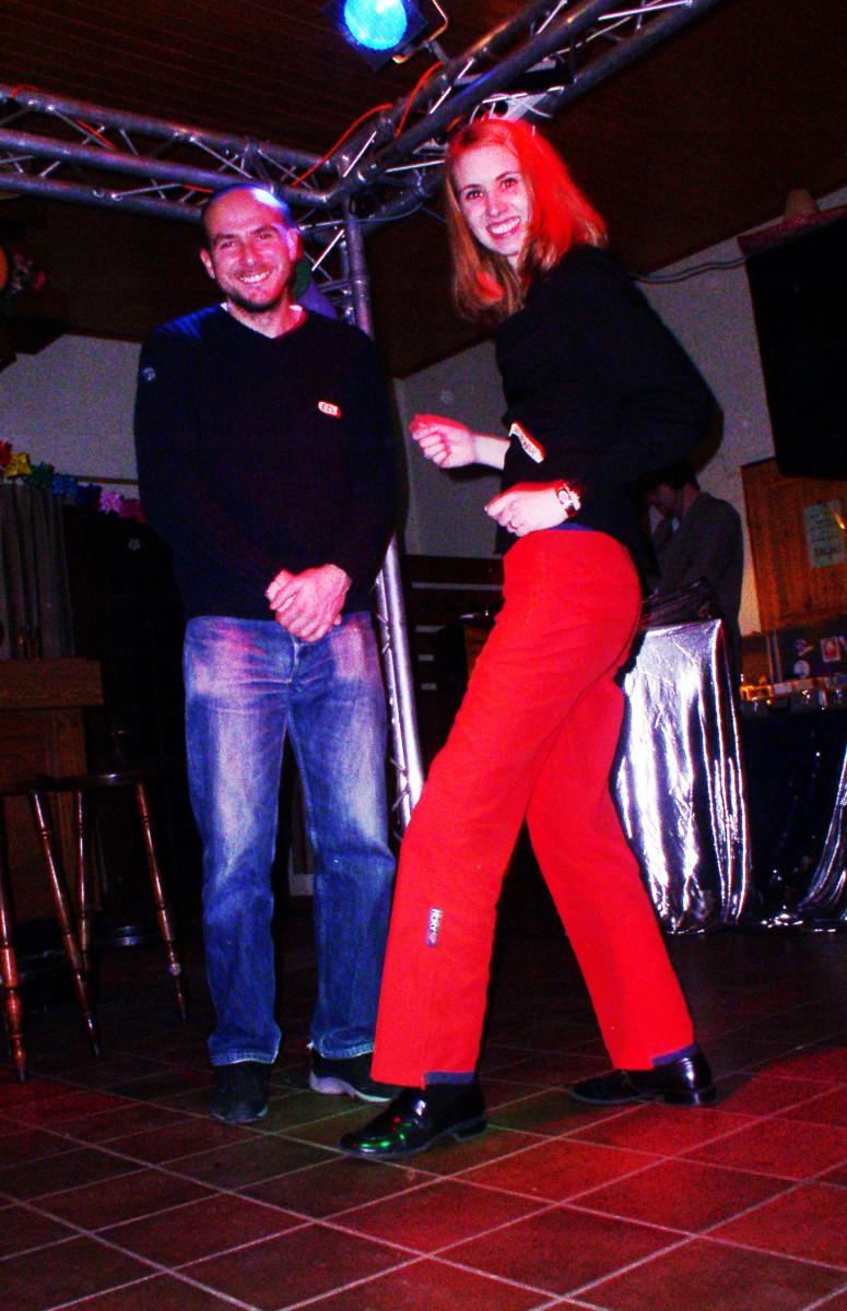 Wibke having a dance