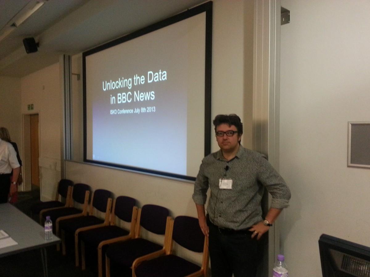Jeremy Tarling at ISKO 2013 at UCL