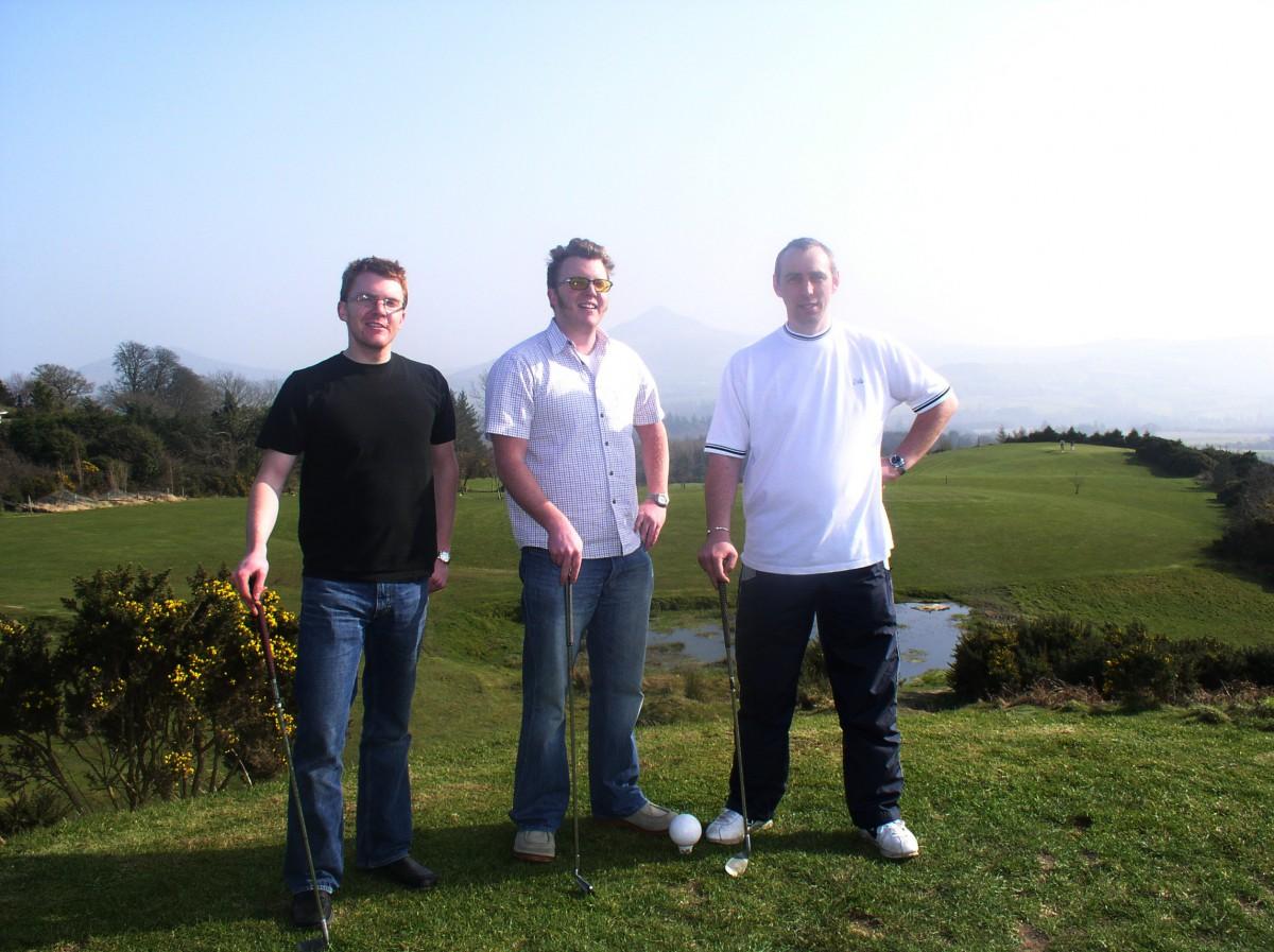 Ed, Matt and Andrew playing Golf in Ireland