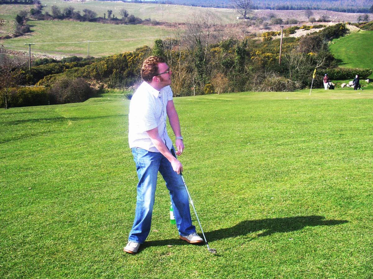 Matt's Golf posture