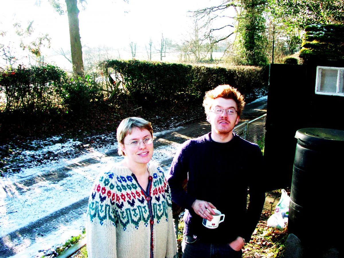 Amy Shearer and Ed Shearer at Amberslone