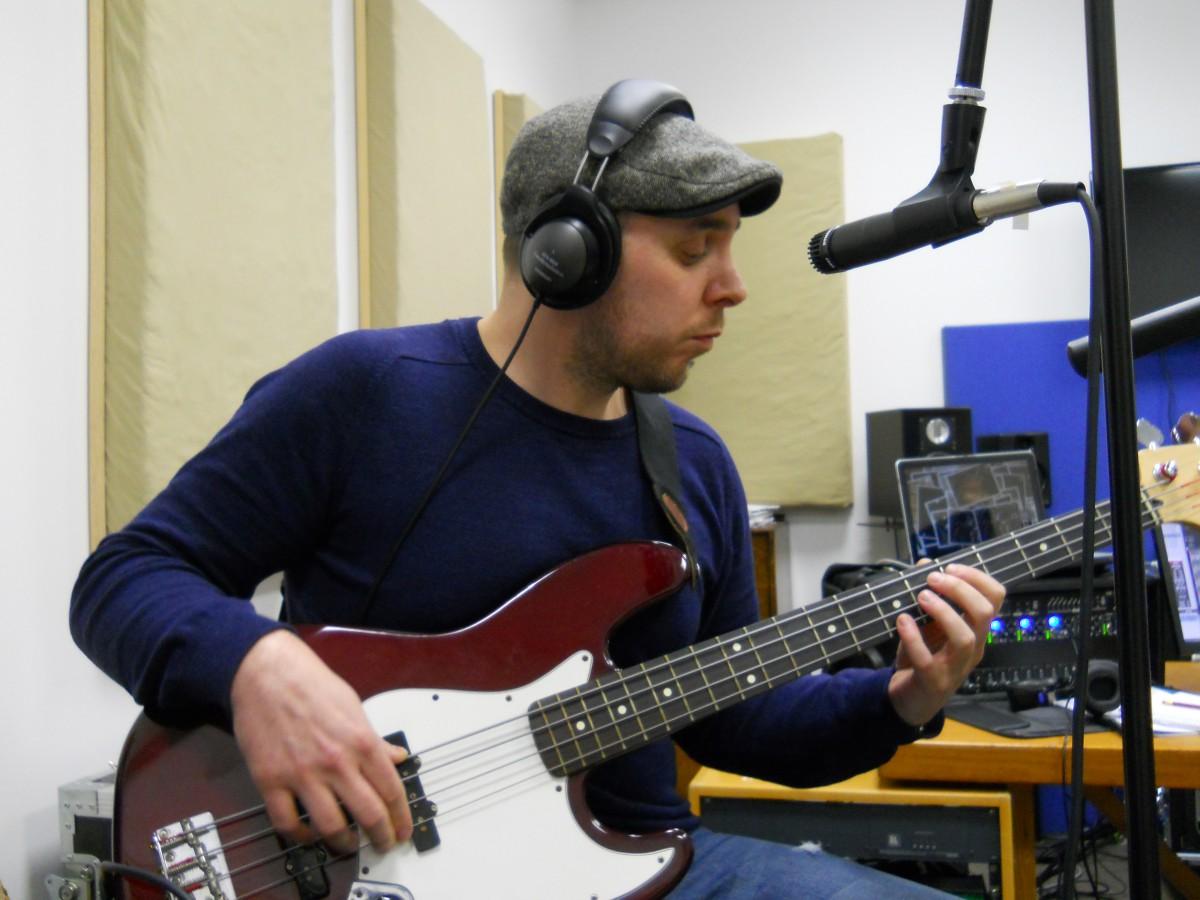 Dan McCabe, working magic on the bass