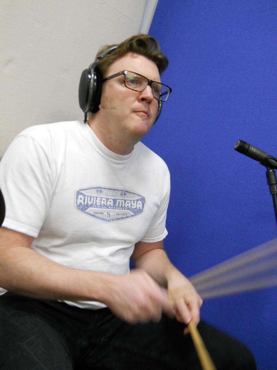 Matt Shearer at NJA Studios - Drumming again...