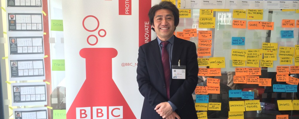 Takanobu from NHK at BBC NEWS LABS