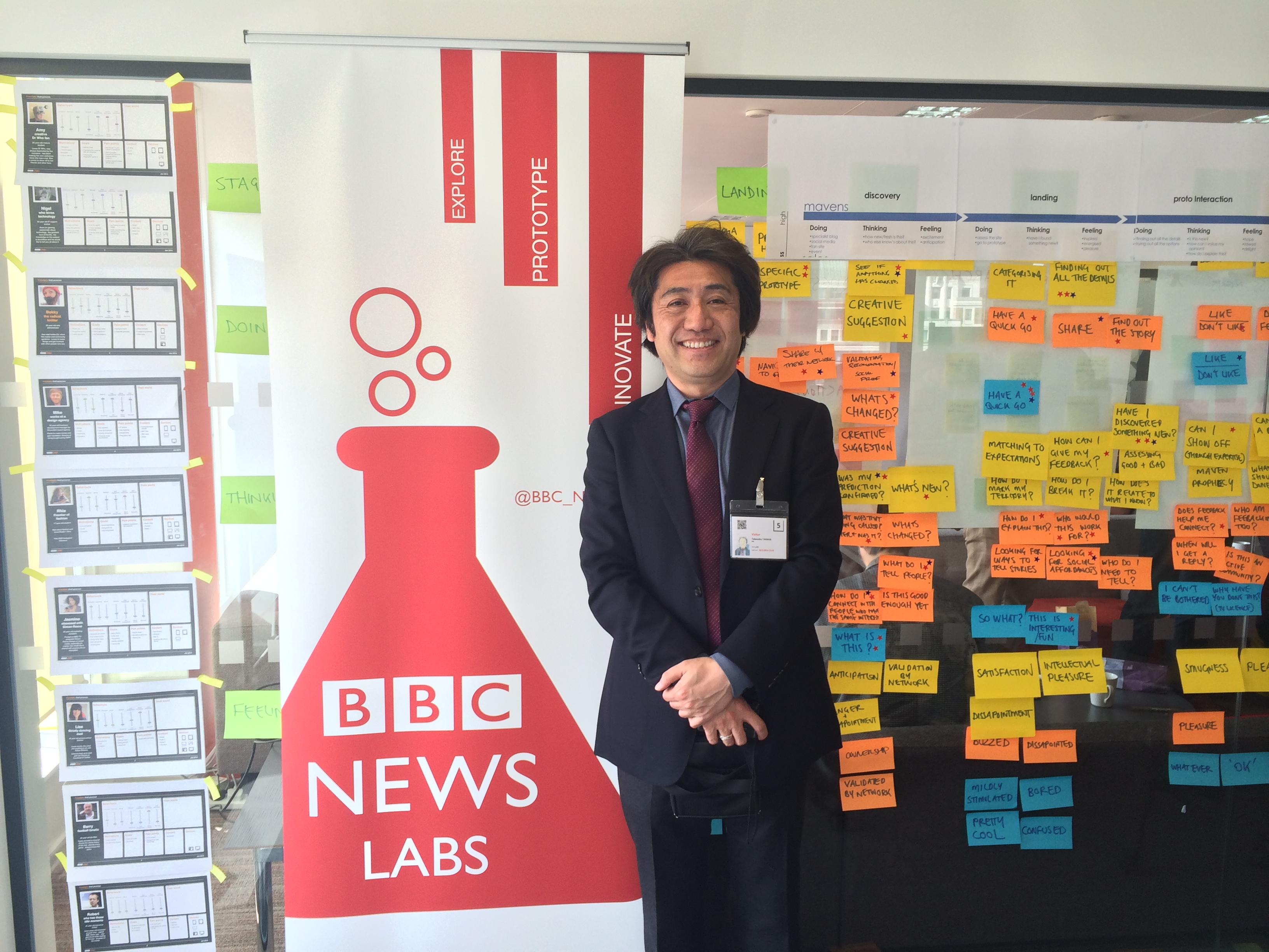 Takanobu from NHK at BBC NEWS LABS