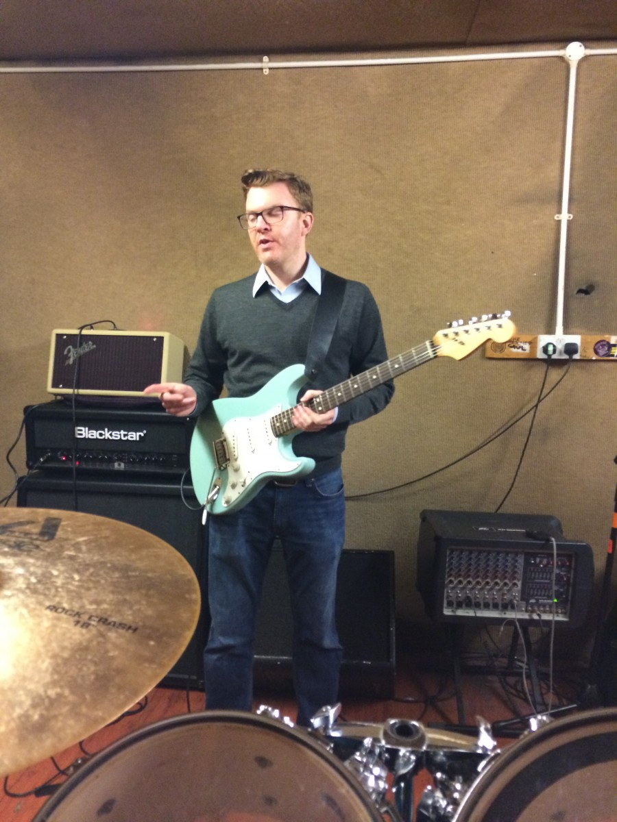 Ed Shearer in rehearsal studio