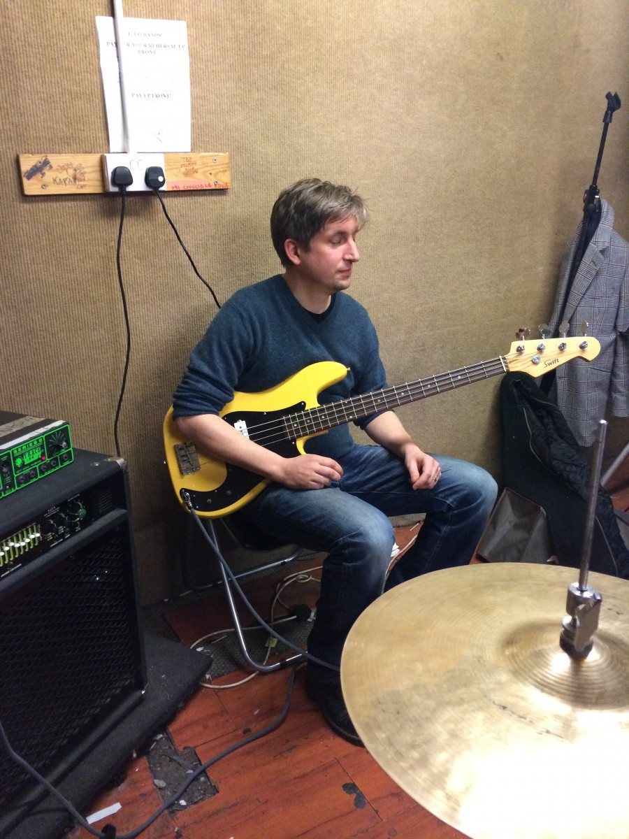 Andy Cameron in rehearsal studio