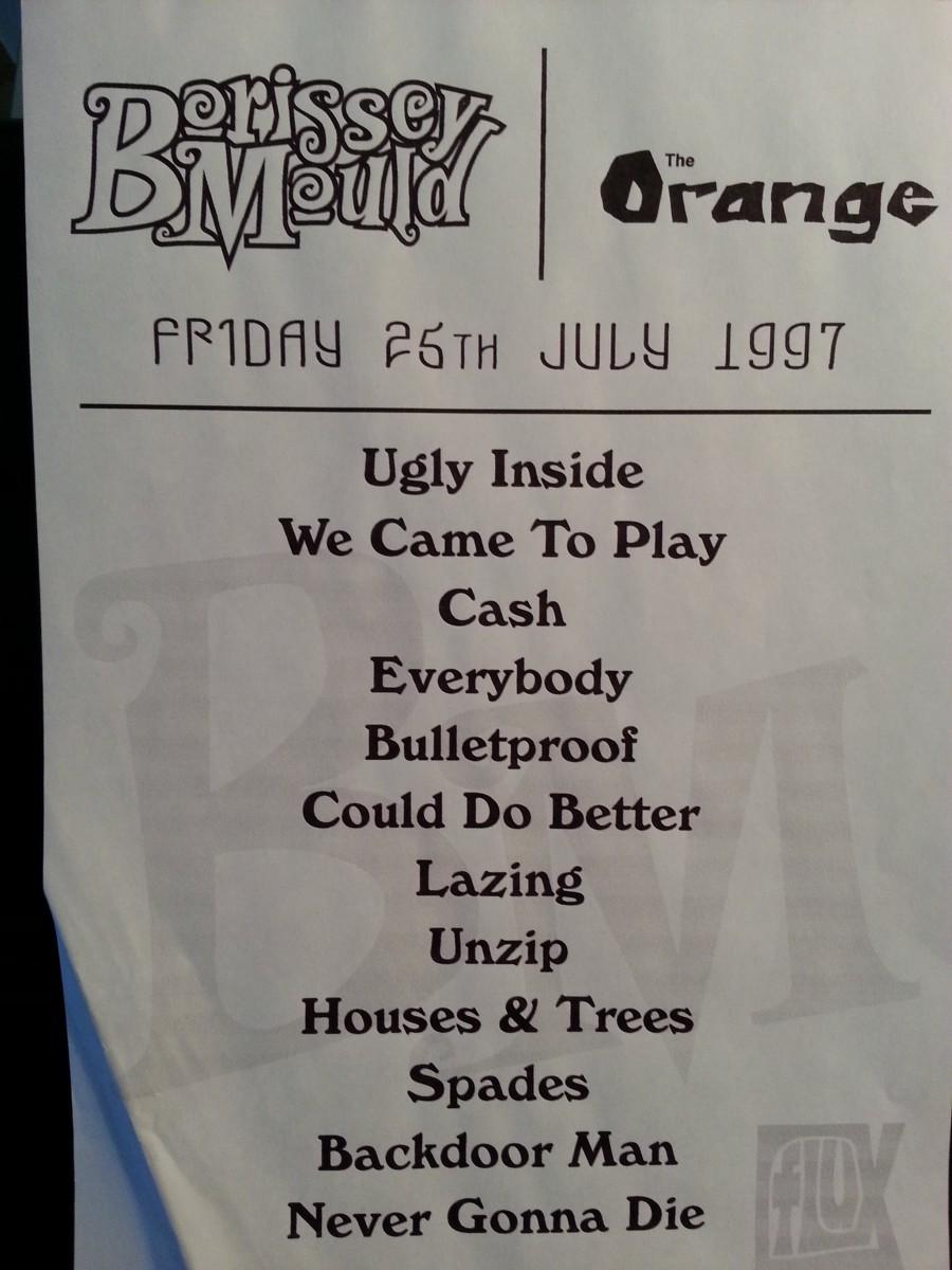 Set list 1997