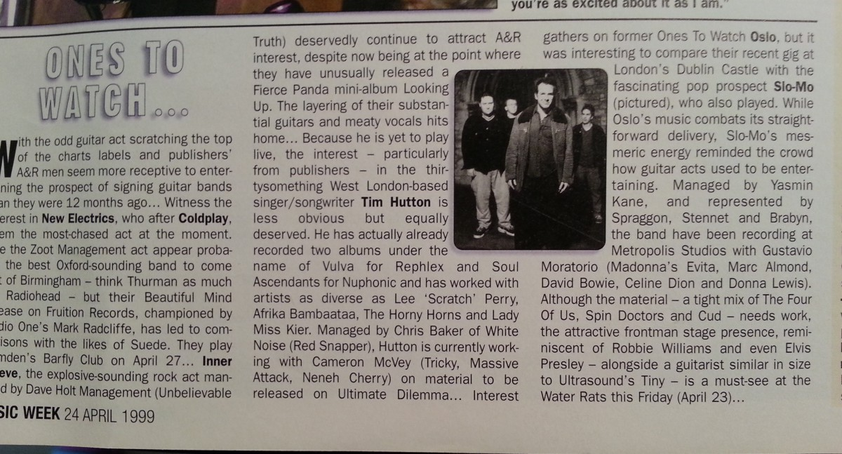 Music Week Review of Slo Mo - April 1999