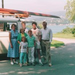 The Shearers on holiday in Austria at the Worthersee
