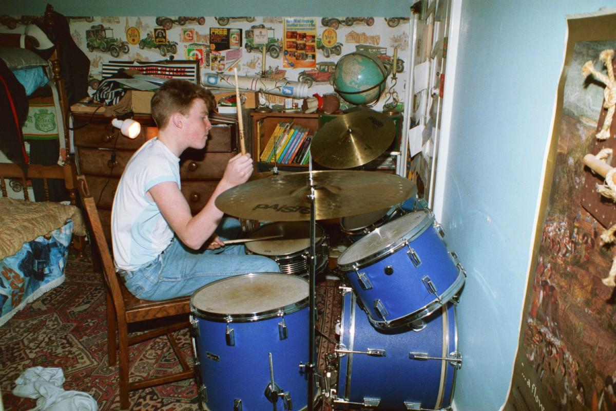 Matt Shearer and his first Drum Kit.