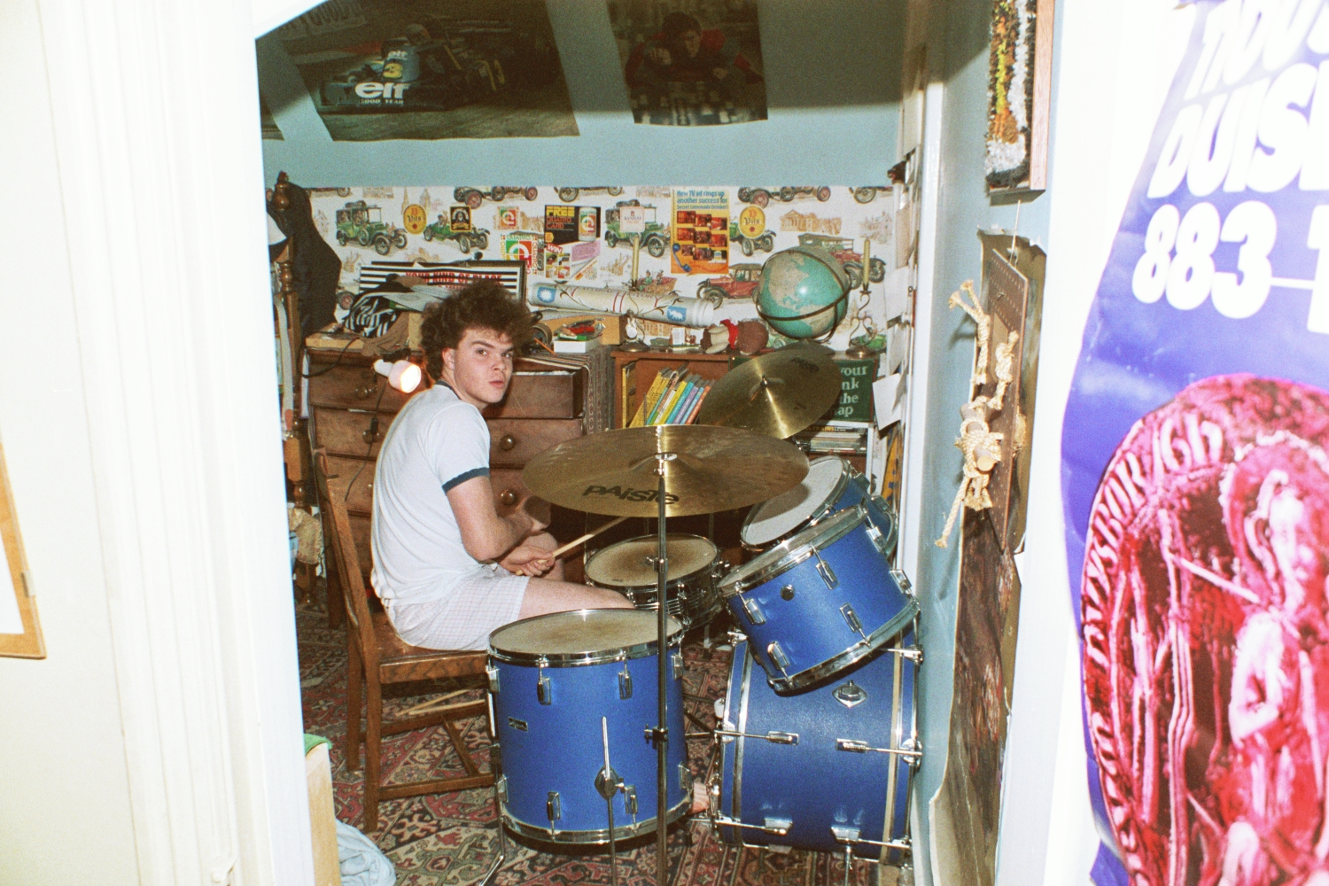 Russ Plays the Drums