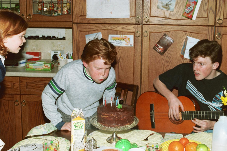 Ed's birthday. Matt plays some beat piece