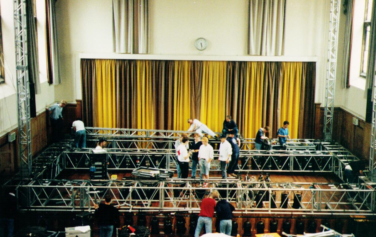 2 Nights Of Rock - RocSoc - Preparing the stage