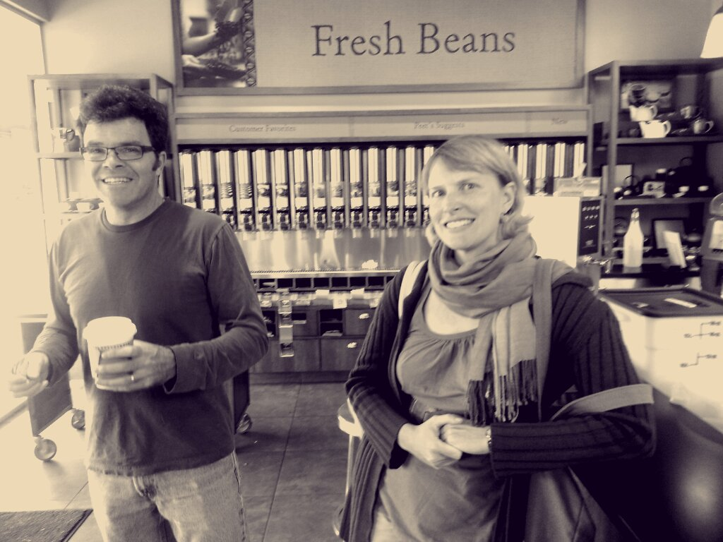 Russ and Amy - coffee