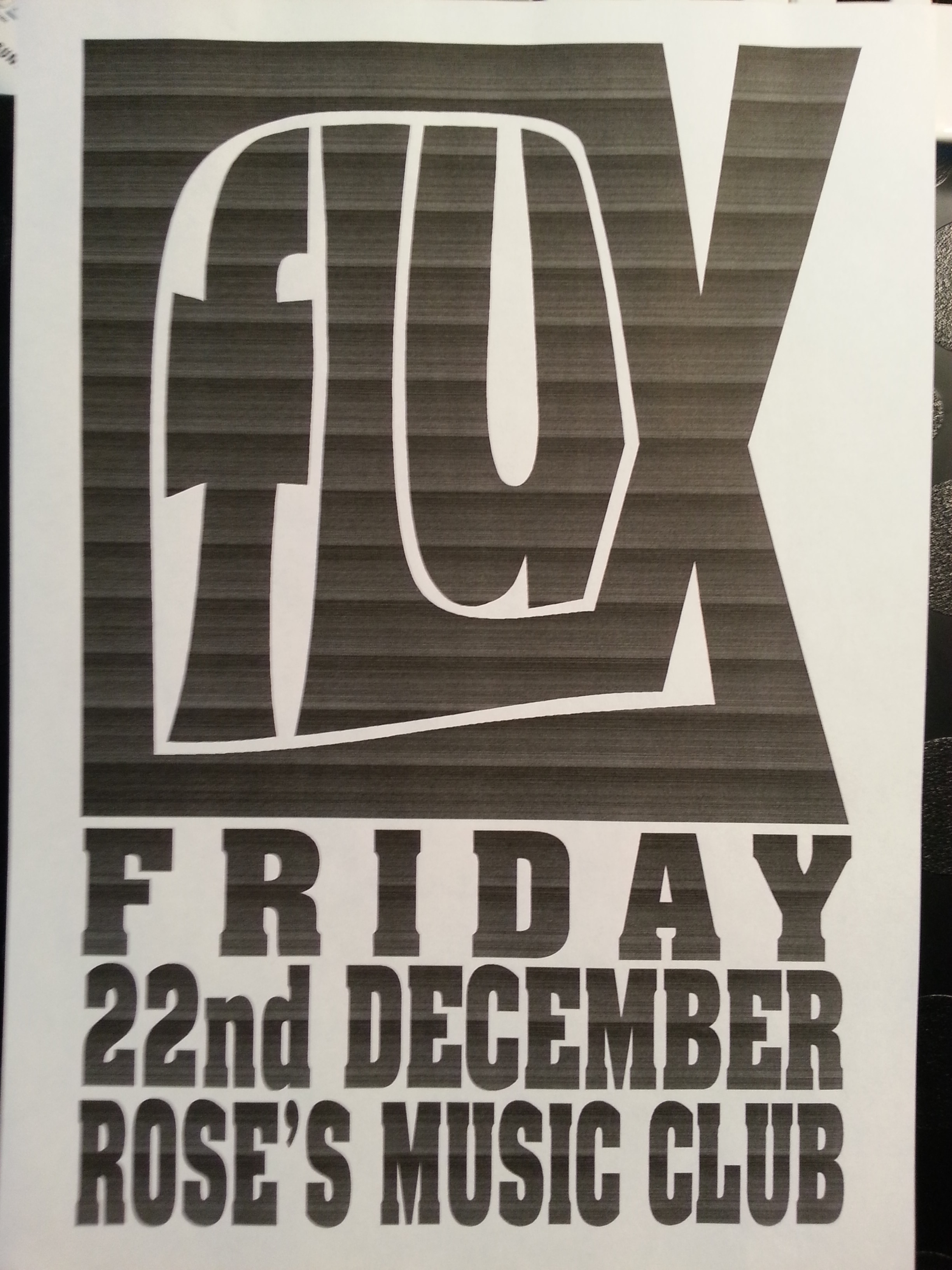 Gig at Rose's Music Club - FLUX - 1995