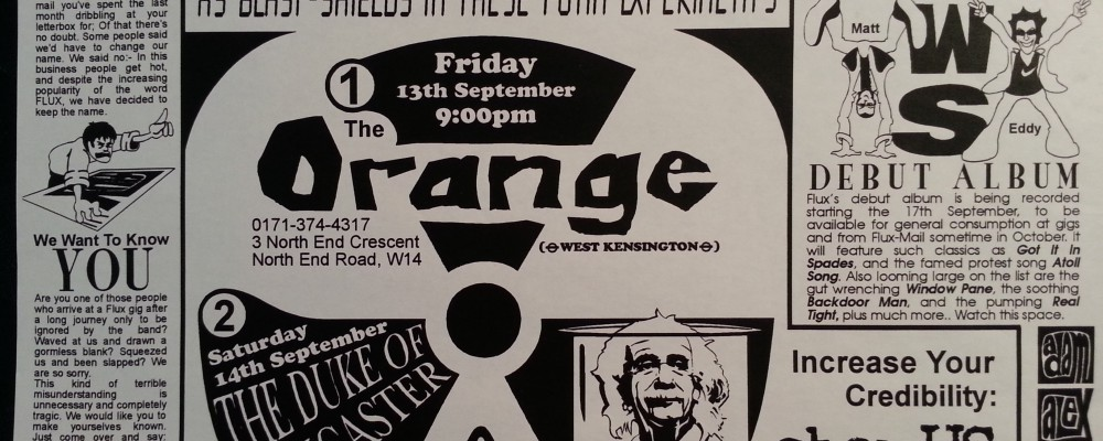 FLUX at The Orange (aka West One Four - W14), September 1996