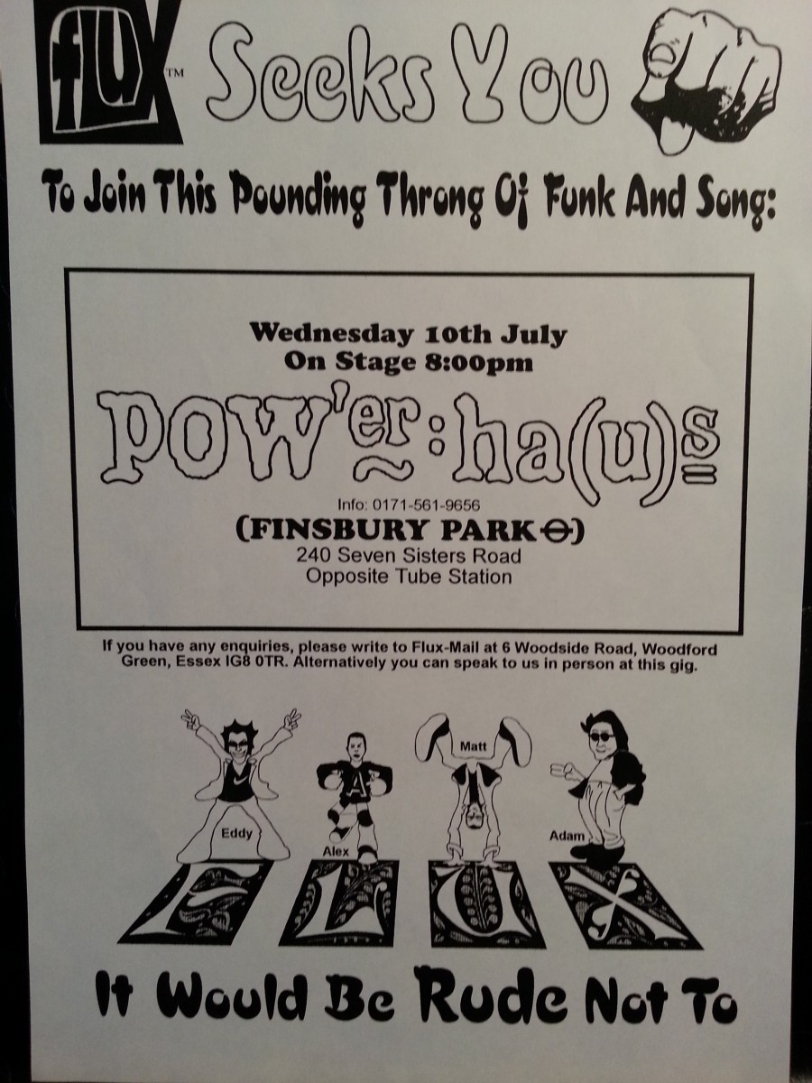 FLUX - Gig at the PowerHaus, London - July 1997