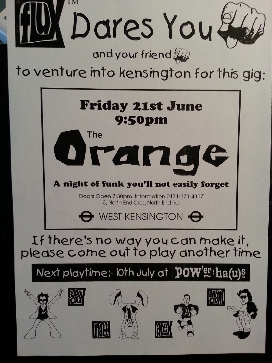 FLUX - Gig at The Orange (W14), London - June 1997