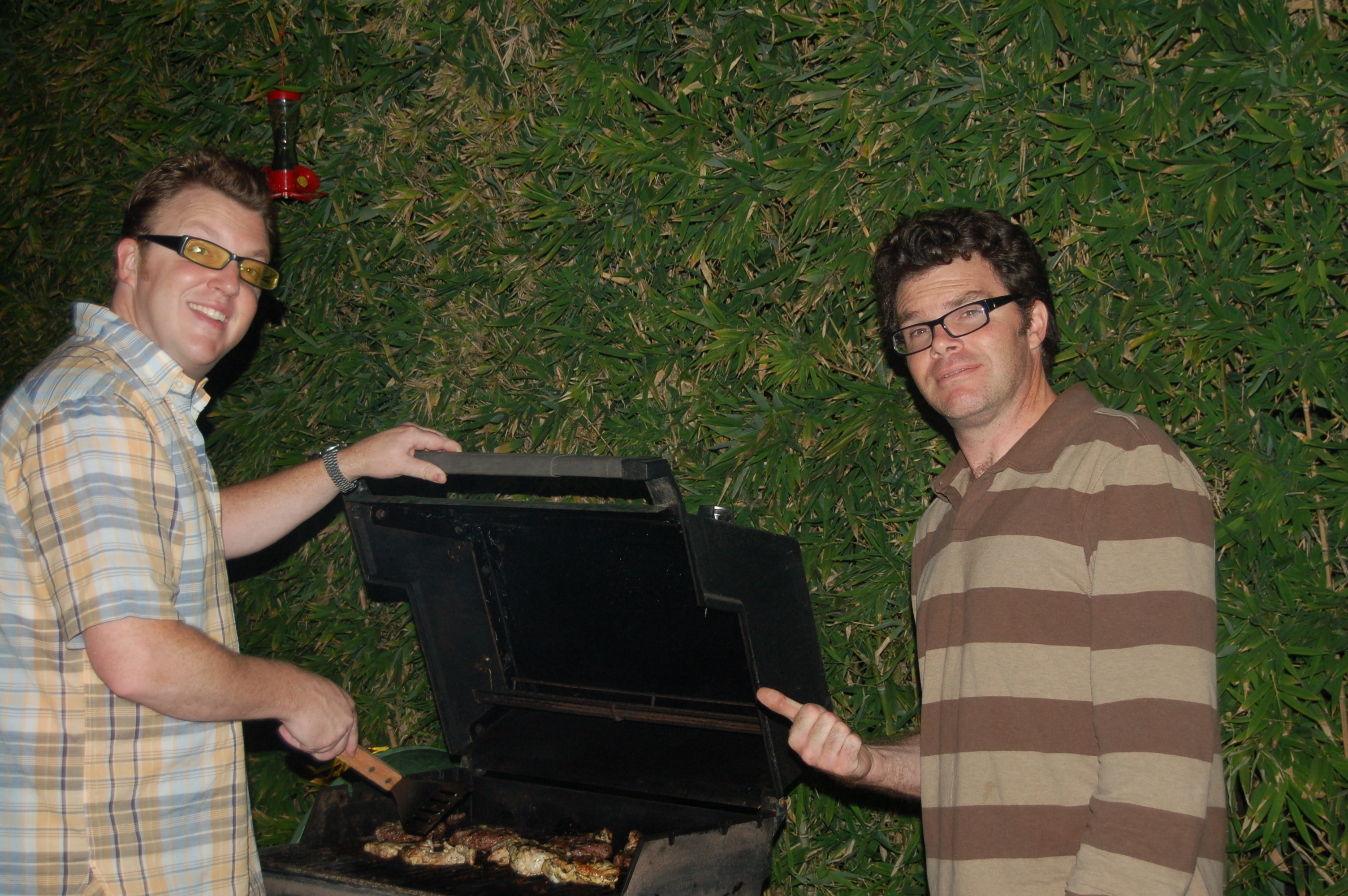 Russ and I at the BBQ