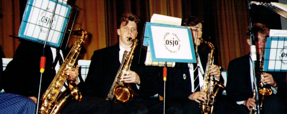 OSJO Jazz Gig at Oundle School - me on Tenor Sax