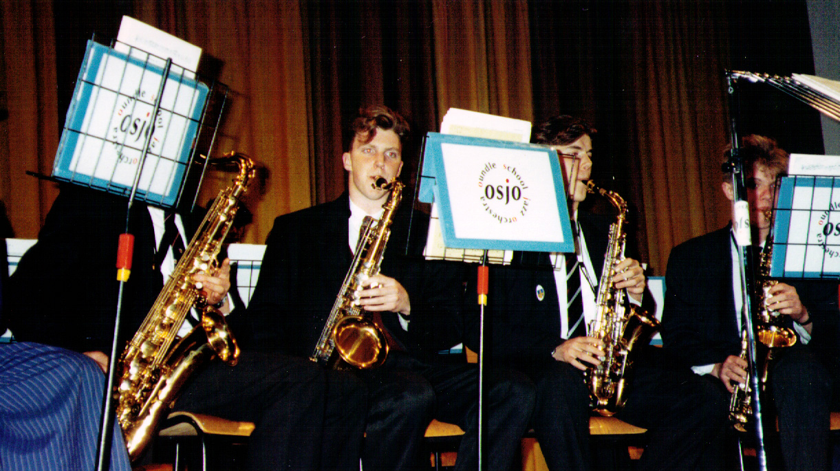 OSJO Jazz Gig at Oundle School - me on Tenor Sax