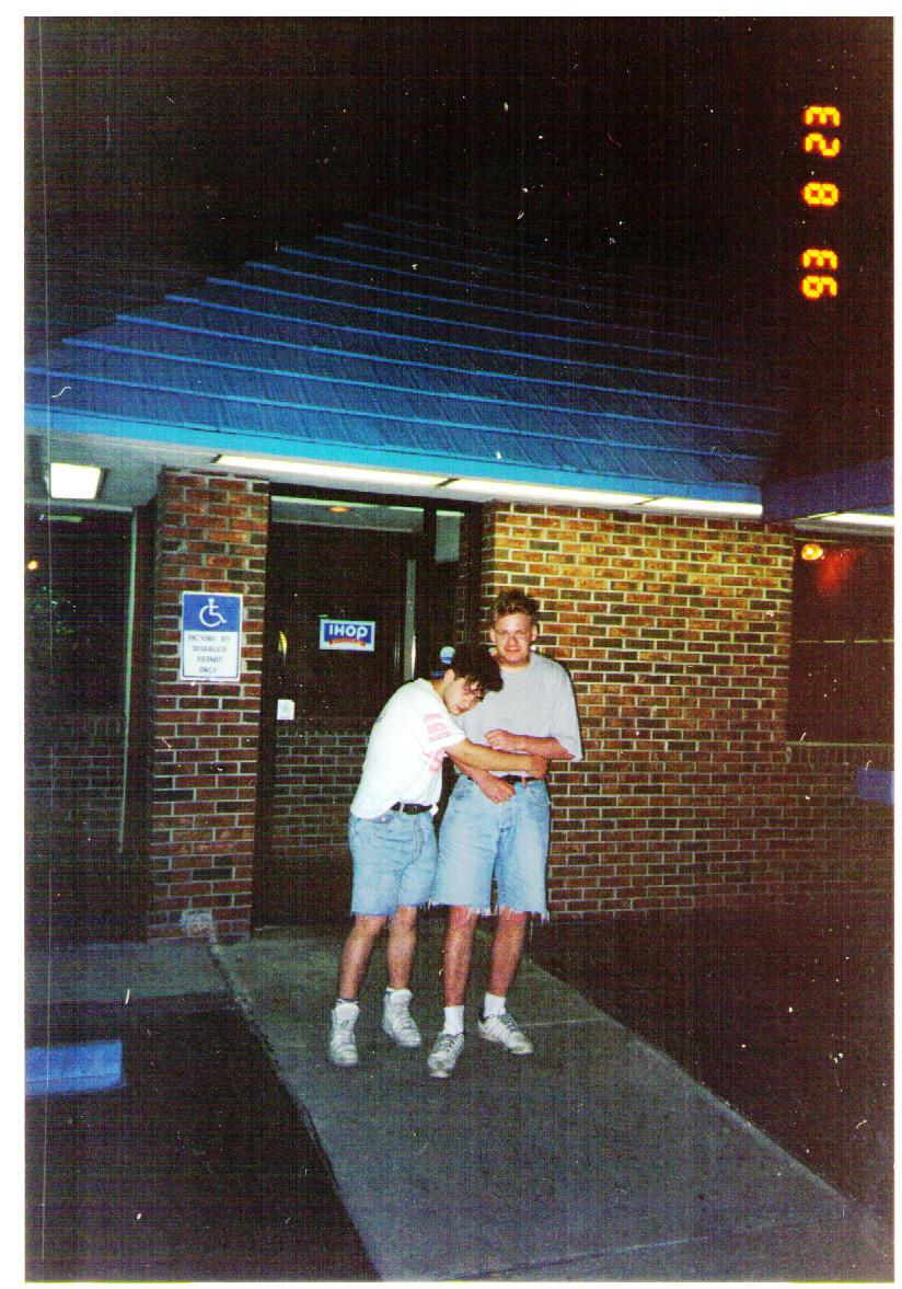 Jim & Ian - Hugs at the Bar