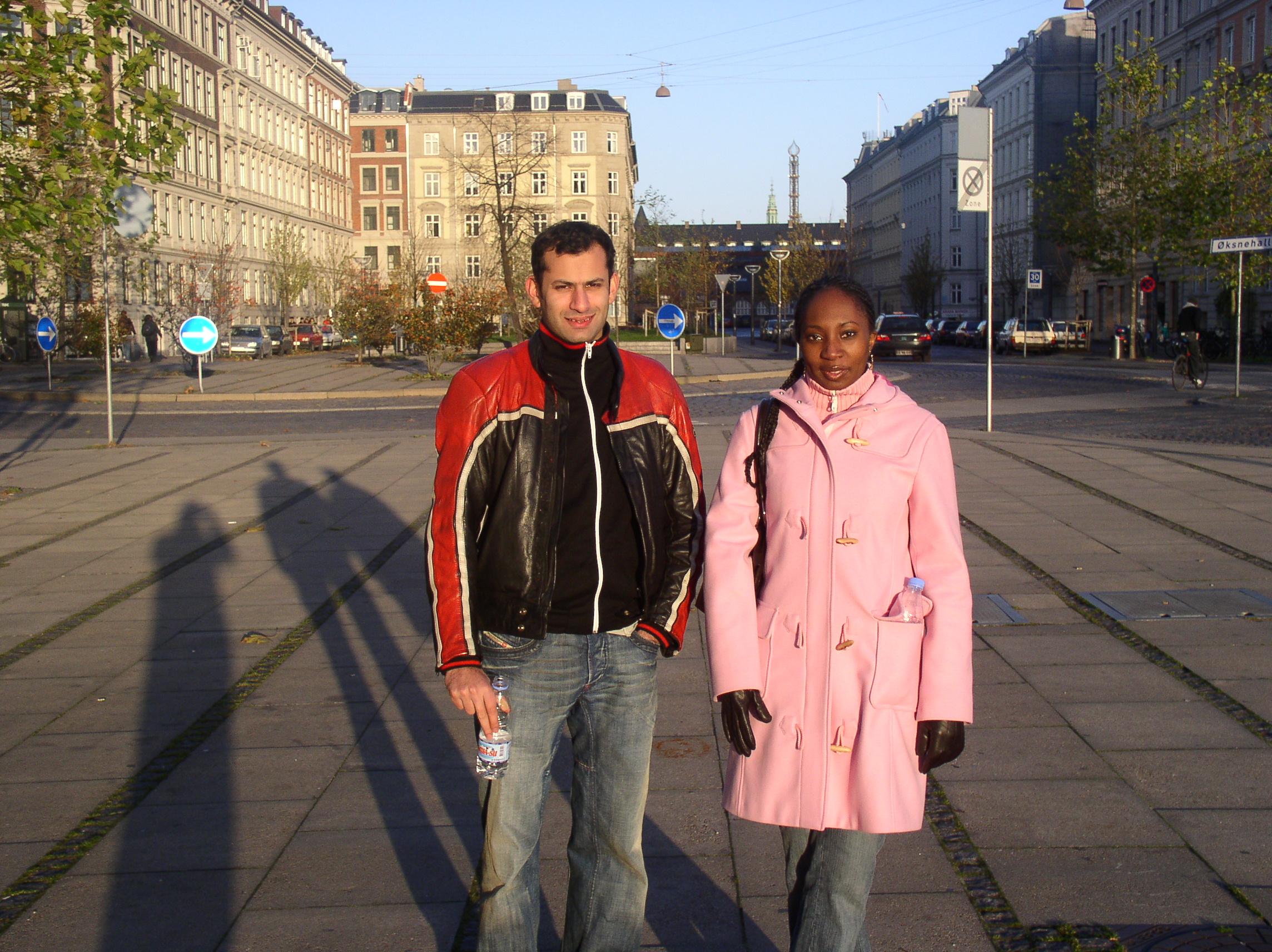Ali & Wendy in Copenhagen, 2004