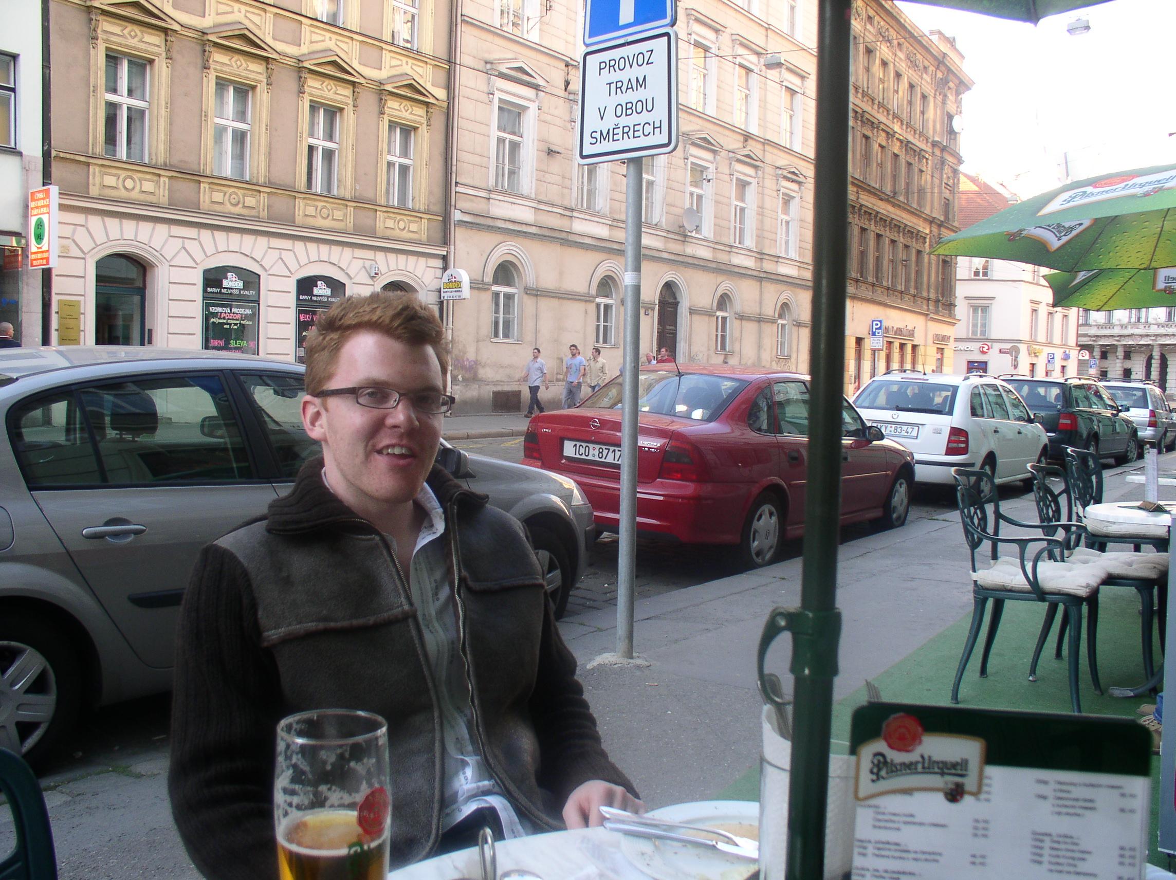 Ed Shearer in Prague