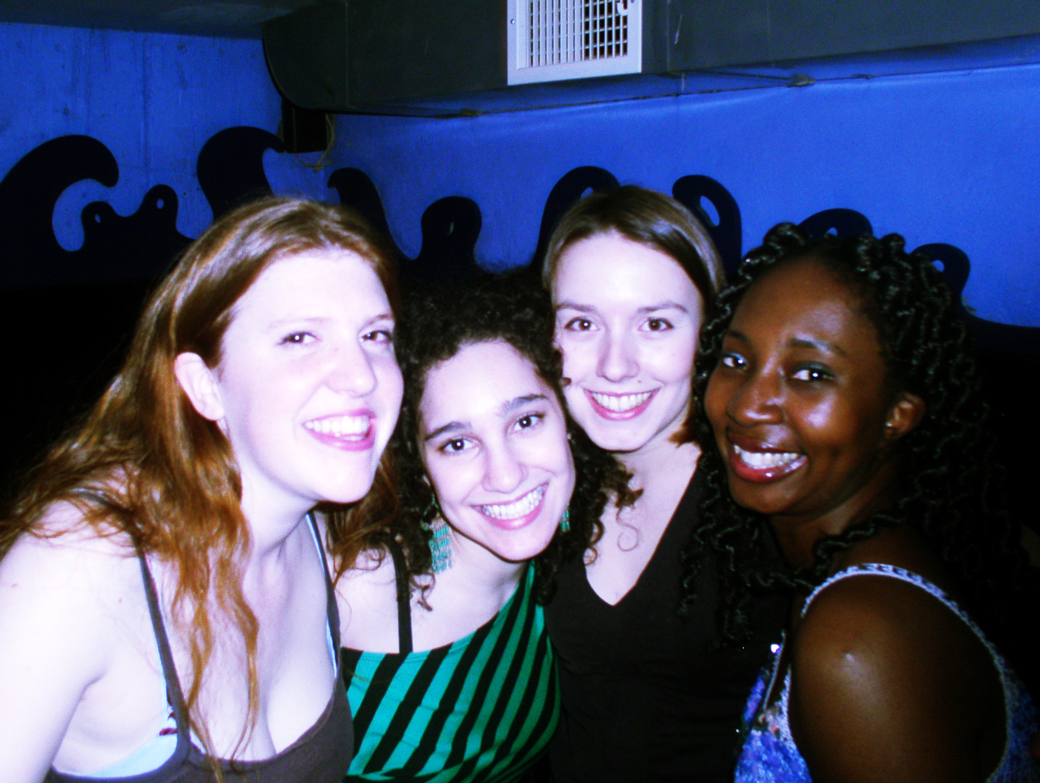 Virginia, friends and Wendy in NYC in 2004