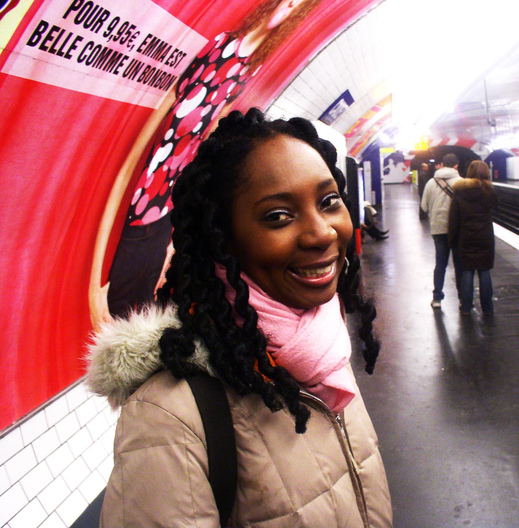 Wendy Shearer in the Metro in Paris