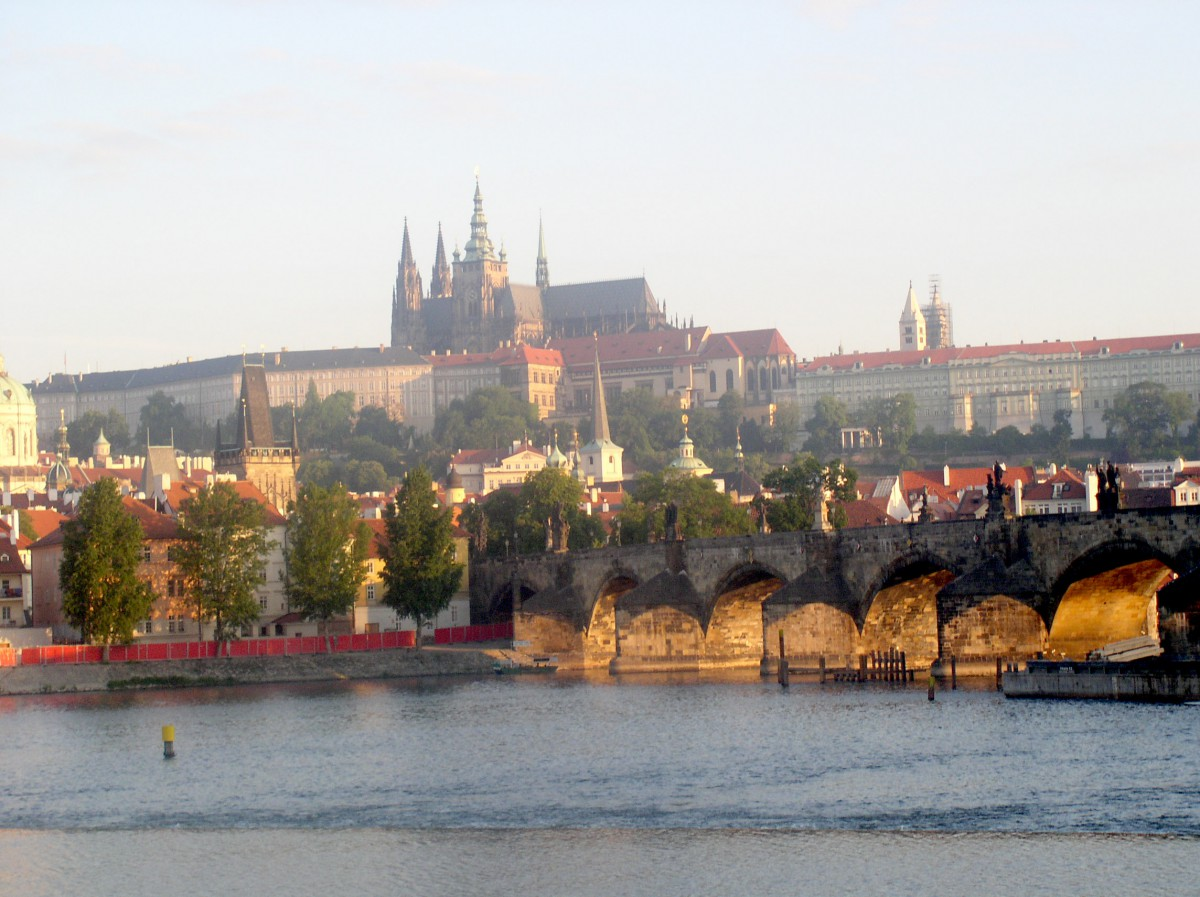 Nice view over the river in Prague