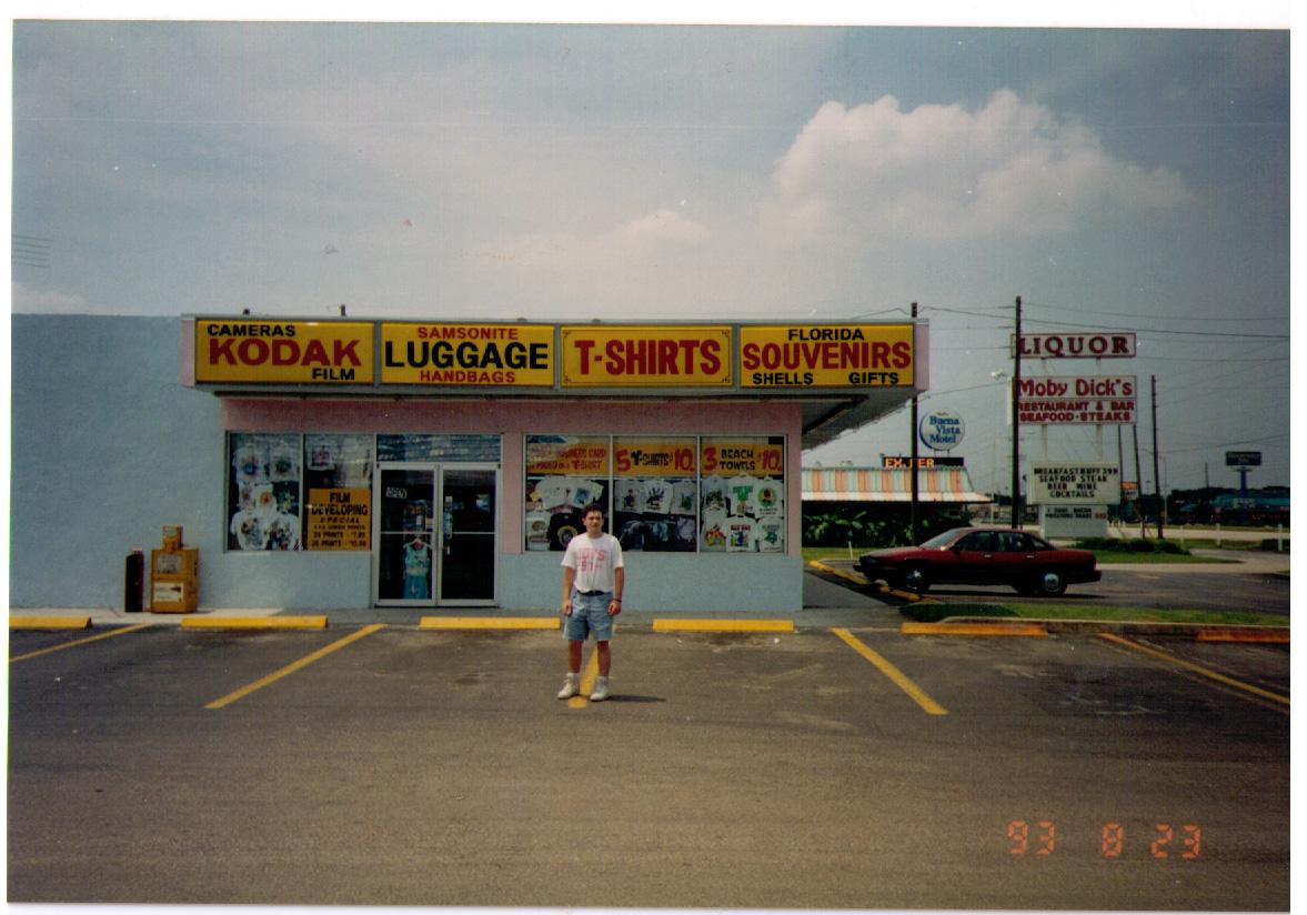 Ian at a T Shirt Shop, USA