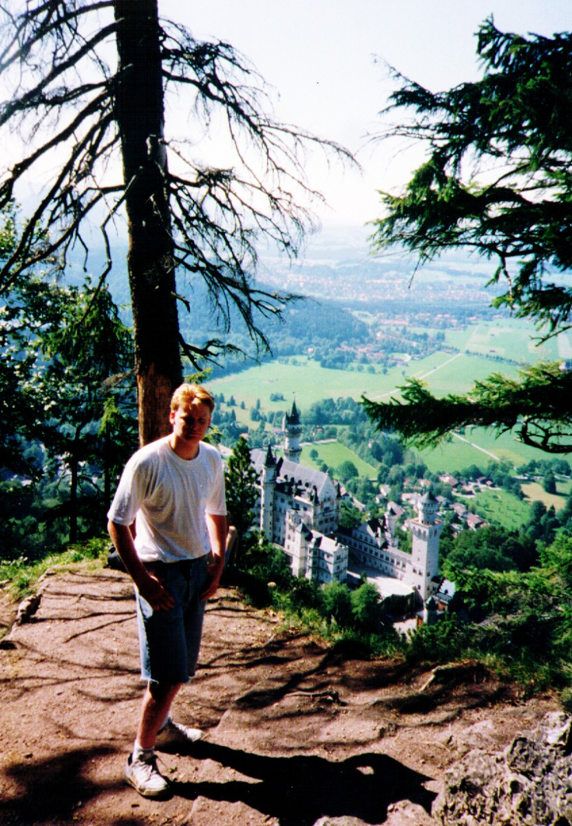 Jim above Neuschwanstein - Kaiser Ludwig II crazy castle