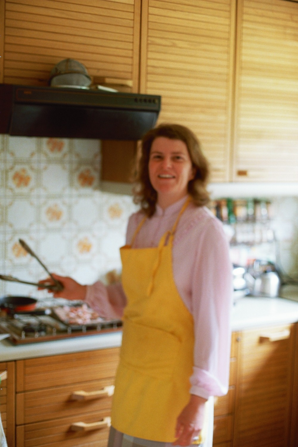 Lori Shearer with tongs