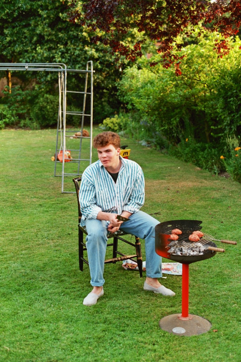 Letting the burgers get done a bit more - Russel Shearer, BBQ, 1980s